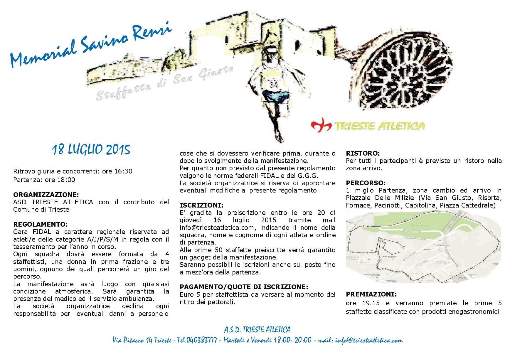 Staffetta di San Giusto – Memorial Savino Renzi