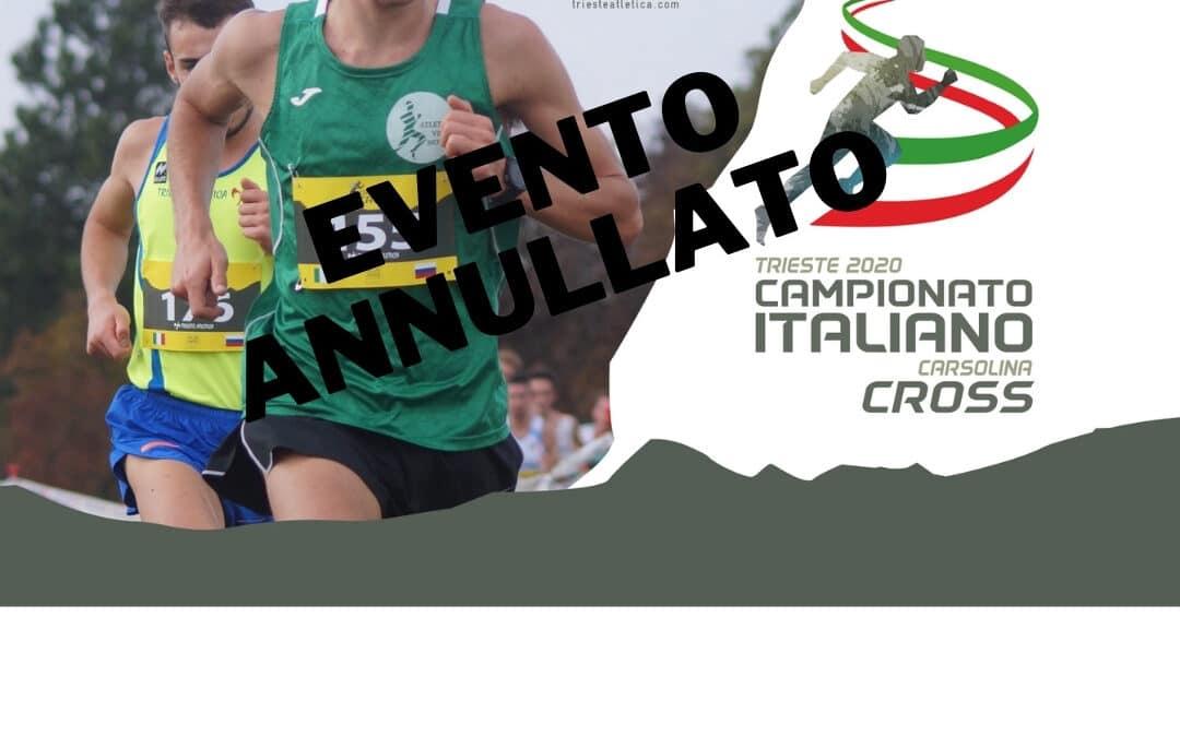 ANNULLATI I CAMPIONATI ITALIANI DI CORSA CAMPESTRE